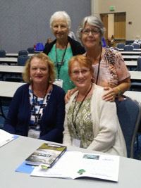four women at bpw conference 2019
